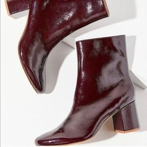 Urban Outfitters Alana Crinkled Patent Boots